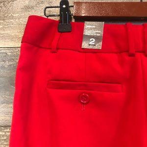 The limited Drew fit red Capri dress pants 2 NWT